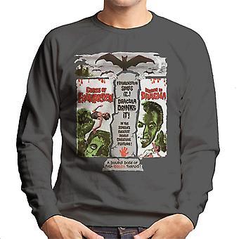 Hammer Horror films dubbele functie Frankenstein Dracula mannen ' s Sweatshirt