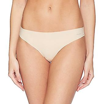 Brand - Mae Women's Sueded Infinity Edge Thong, 3 Pack, Black/Toasted Almond/Pale Pink, Large