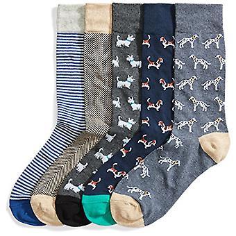 العلامة التجارية - Goodthreads الرجال & ق 5-حزمة الجوارب المنقوشة، والكلاب المتنوعة، والأحذية ...