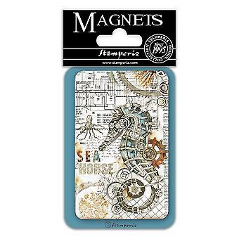 Stamperia Sea Horse 8x5.5cm Magnet