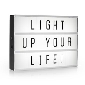 LED Light box A3 with 85 characters