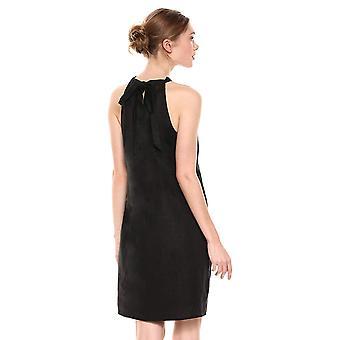 28 Palms Women's 100% Linne Grimmer Shift Dress, Svart, Medium