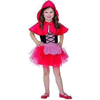 Rotkäppchen Kinder 2-teilig Kleid mit Cape Kostüm Märchen
