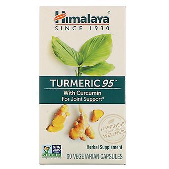 Himalaya, Kurkuma 95 met Curcumine, 60 vegetarische capsules