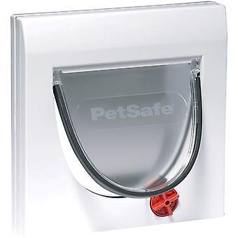 Staywell Classic 4-Way Locking Cat Door + Tunnel - White
