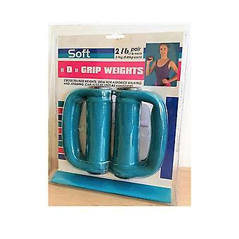 Pair Of Morgan D Grip Weights Cross Fitness Soft Grip Dumbbells