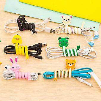 Cartoon Cable Winder Wire Ties Computer Earphone Cable Wire Organizer Holder