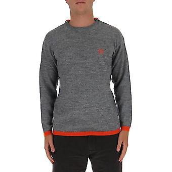 Loewe H526333x611315 Men's Suéter de Lã Cinza/roxo