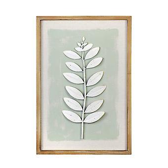Leaf Wall Art w/ Ivory Distress Finish
