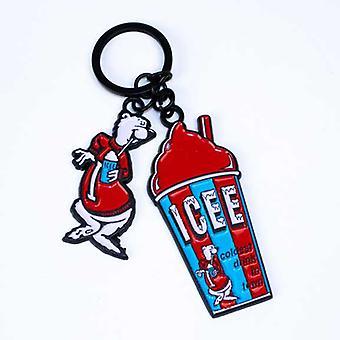 Key Chain - ICEE - Enamel Fill Out w/Charm New KY03204ICEU
