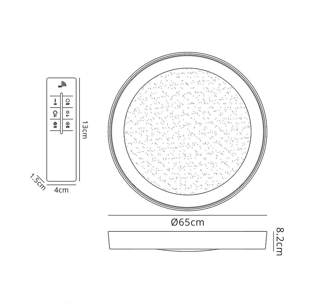 Inspired Mantra Fusion - Male - Flush Ceiling Light 65cm Round 40W LED 3000-6500K Tuneable, 3200lm, Remote Control Chrome, Acrylic