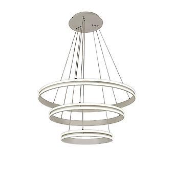 Luminosa Lighting - Plafondhanger, 3 Licht 50W,30W,20W LED, 4000K, 5470lm, Dimable, Mat Wit