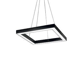 Integroitu LED neliön katto riipus lamppu 1 valo musta 3000K