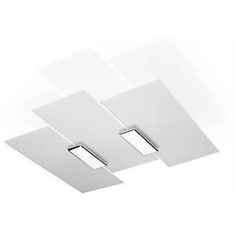 Sollux FABIANO - 3 licht decoratief flush licht wit, chroom, E27