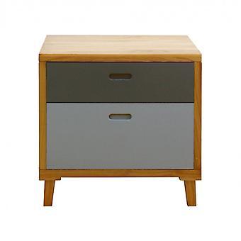 Rebecca Furniture Modern Comfort 2 Grey Brown Wood Laden 58x60x45