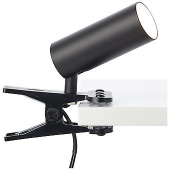 Lampada BRILLIANT Soeren LAMPADA DI BLOCCAGGIO LED Velluto nero | 1x LED da 4,5W integrato, (410lm, 4000K) | Scala da A++ a E | Leggero
