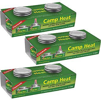 Coghlan-apos;s Camp Heat Emergency Cooking Fuel Can (6 Pack), Recloseable 4-6 h Burn