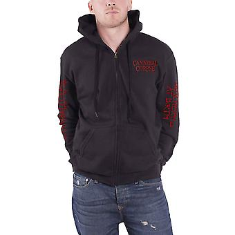 Cannibal Corpse Hoodie Butchered At Birth 2019 new Official Mens Black Zipped