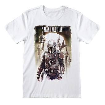 Star Wars: The Mandalorian Unisex Adult Trooper Head T-Shirt