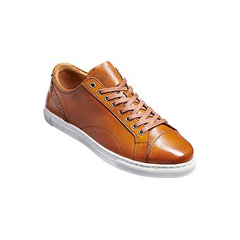 Barker Ethan - Cedar Hand Painted  | Mens Handmade Leather Sneakers | Barker Shoes