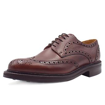 Barker Grassington Lace Up Brogues In Cherry