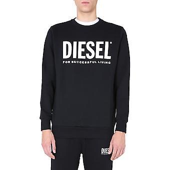 Diesel 00swfh0bawt900 Men's Musta Puuvilla Collegepaita