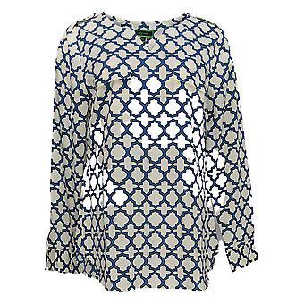 C. Wonder Women's Top Trellis Long Sleeve Tissé Blanc A275634