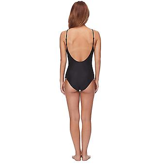 Body Glove Women's Smoothies Simplicity Solid One Piece Swimsuit, Black, Large