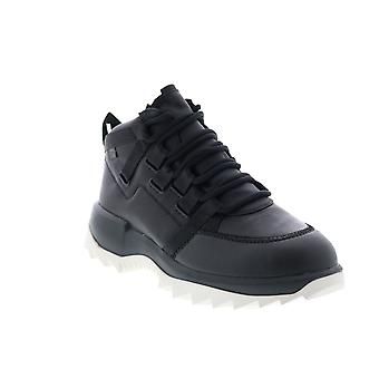 Camping-car Helix Mens Black Leather Euro Sneakers Chaussures