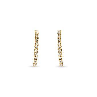 Earring Skinny Snake 18K Gold and Diamonds