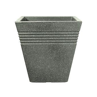 Stewart Piazza Square Planter Marble Green 34cm 5041063