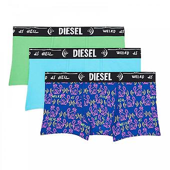 DIESEL 3-Pack Boxer Trunk UMBX-Damien, Green / Blue / Print, Large