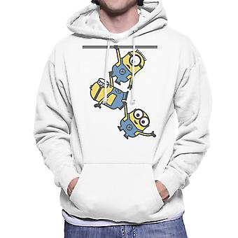 Despicable Me Bob Stuart And Dave The Minions Hanging Men's Hooded Sweatshirt