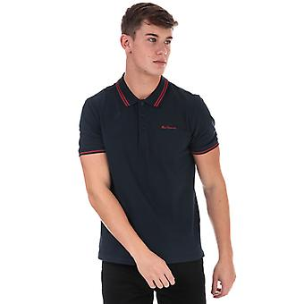 Men's Ben Sherman Skript gekippt Polo Shirt in blau