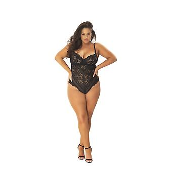 Lace Body With Seductive Back - Curvy