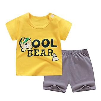 Cotton Summer Baby Soft Shorts Suit T-shirt Stuff Voor 0-6y
