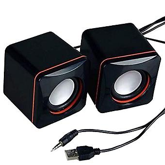 Portable Mini Stereo Speaker Usb Audio Jack Laptop Desktop Computer Loudspeaker