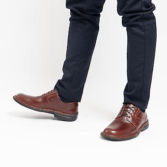 Josef Seibel Walt Mens Leather Derby Shoes Brandy