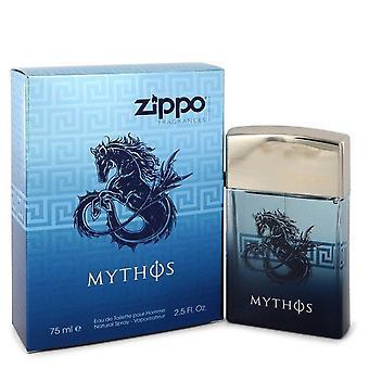 Zippo Mythos Eau De Toilette Spray By Zippo 2.5 oz Eau De Toilette Spray