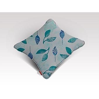 Sininen lehtikuviotyyny/-tyyny