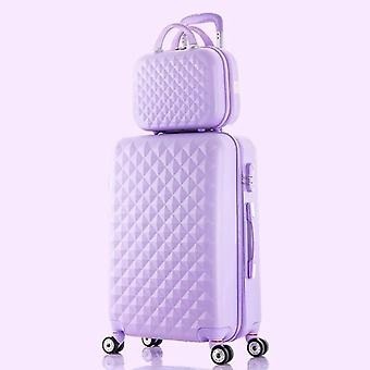 Women's Rolling Luggage Trolley Suitcase - Travel Bag