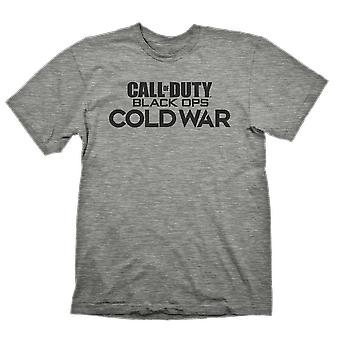 Call of Duty Call Of Duty Cold War Logo Grey T-Shirt Large