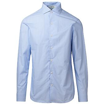 Z Zegna 805021zcso121 Men's Light Blue Cotton Shirt