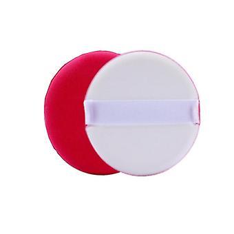 Puderpuff 2-Pack waschbare Pads Weiß/Rot