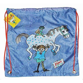 Pippi Langkous Gym Bag Blauw