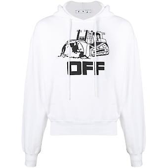Off-white Ombb037r21fle0090110 Männer's weiß/schwarz Baumwolle Sweatshirt