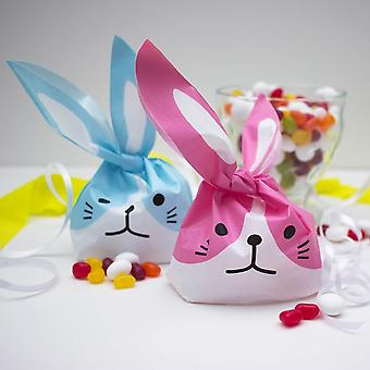 Easter Bunny Sweet Bags Set of 8 Bags Pink and Blue Gift Bags - Easter Egg Hunt