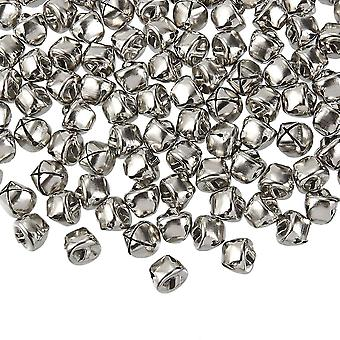 Set of 200 Mini Jingle Bell Jewelry Accessories Christmas Home Decoration Silver