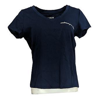 Rachel Hollis Ltd Women's Top Perfect Tee Blue A354045