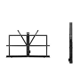 Sheet Music Stand Iron Folding Portable Music Holder Black